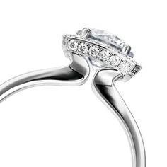 White gold round diamond Furrer Jacot