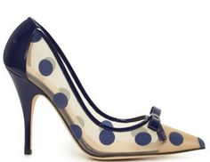 Kate Spade 'Lisa' polka dot wedding shoes.