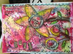 My first mixed media canvas