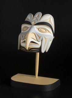 "Bird Transforming Mask - John Marston - Yellow Cedar 15""x10""x6"""