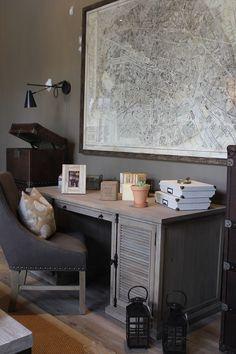 Office Decor I Nspiration Colour Scheme Desk Chair Artwork Aged Desk Blj  Accents Luv