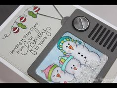 This video features a shaped shaker card using a Simon Says Stamp Shake It Up die and Newton's Nook Designs Stamps. Christmas Paper Crafts, Christmas Cards To Make, Shaker Cards, Card Tutorials, Deck The Halls, Custom Greeting Cards, Cool Cards, Making Ideas, Cardmaking