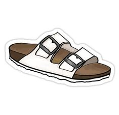 Birkenstock stickers featuring millions of original designs created by independent artists. White or transparent.