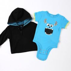 """Disney Cuddly Bodysuit™ with Grow-An-Inch-Snaps™ and Hooded Jacket MONSTERS, INC. """"Sulley's Roar"""" Set"""