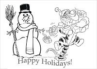 HERE IS TIGGER FROM WINNIE THE POOH IN A VERY CUTE COLORING PAGE - PRINT HOWEVER MANY COPIES YOU NEED. MAYBE YOU'RE JUST PRINTING ONE FOR YOUR CHILD...BUT YOU COULD ALSO PRINT ONE FOR HIS FRIENDS, HIS CLASSMATES OR TO ADD TO GREETING CARDS THAT YOU ARE SENDING OUT THIS YEAR TO FAMILIES THAT HAVE CHILDREN? BETTER STILL - WHY NOT PRINT A FEW DISNEY COLORING PAGES FROM THIS SITE AND THEN COLLATE THEM (STAPLE THEM TOGETHER) TO CREATE A PERSONALISED COLORING BOOK FOR SOMEONE?