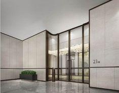 Sri Sri's media content and analytics Lobby Lounge, Hotel Lobby, Minimalist House Design, Minimalist Home, Shop Interior Design, Interior Design Living Room, Hotel Corridor, Public Hotel, Lobby Interior