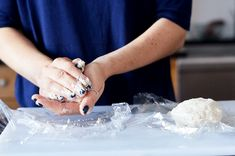 Lay the balls of dough on two squares of plastic wrap. How To Make Pecan Pie Rugelach For Thanksgivukkah First Night Of Hanukkah, Cranberry Orange Cookies, Snack Recipes, Dessert Recipes, Snacks, Pastry Brushes, Cooking For Two, Cookies Ingredients, Desert Recipes