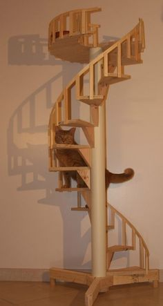 Spiral Cat Trees/Stairs - Real Cabinet-Grade Pine, handmade in USA in Pet Supplies   eBay