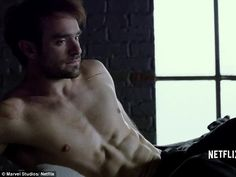 Devilish: Charlie Cox strips off as he plays Matt Murdock in the upcoming Netflix series of Marvel's Daredevil