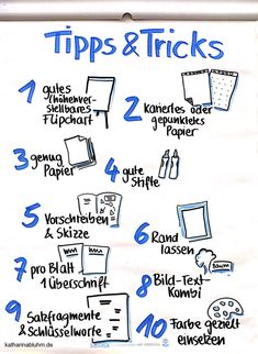 Simply make flipcharts successful? I'll show you 10 tips and tricks on how to do your flipcharts well. Lettering Guide, Lettering Tutorial, Hand Lettering, Education Logo, Music Education, Family Presents, Workshop, Sketch Notes, Coaching