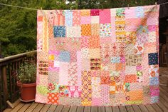 OOAK memory quilt <3 Someday I will make this with all of those adorables outfits from a long time ago...