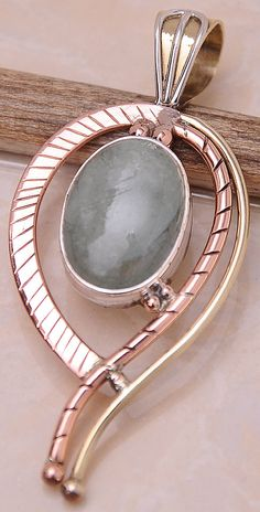 Natural Aquamarine Necklace Pendant  Focal Bead  by mandalarain, $30.00