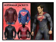 """Superman Jacket Collecation"" by fanjackets on Polyvore"