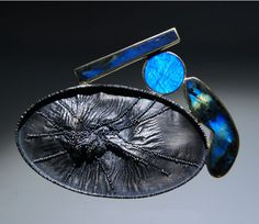 Harold O'Connor Brooch: Untitled, 2014 silver, 750 gold, spectrolite.