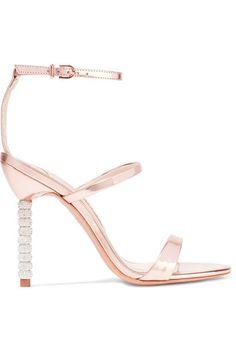Sophia Webster - Rosalind Crystal-embellished Metallic Leather Sandals - IT36.5
