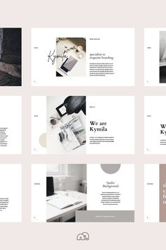 Create beautiful brand guidelines in minutes with the KYMILA presentation template. Web Design, Book Design, Layout Design, Cover Design, Presentation Layout, Presentation Templates, Powerpoint Design Templates, Card Templates, Design Typography