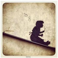 Street Art by Banksy #StreetArt #Banksy