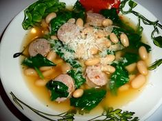 Tuscan Spinach, Bean & Sausage Soup