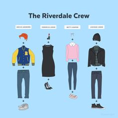 The Riverdale crew is one of the easiest, most recognizable pop culture group costumes to sport for Halloween. Group Halloween Costumes, Cute Halloween Costumes, Group Costumes, Halloween Diy, Zombie Costumes, Halloween Couples, Family Costumes, Family Halloween, Easy Character Costumes