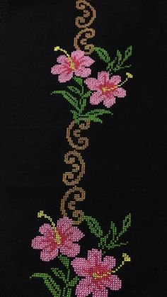 Cross Stitch Flowers, Cross Stitch Patterns, Ethnic Bag, Embroidery Stitches, Projects To Try, Crafts, Hand Embroidery Stitches, Cross Stitch Embroidery, Towels