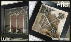 A tutorial on re-purposing an old picture into something that matches new decor. Don't give up on an old piece you love, just because it doesn't match. Give it a face lift!