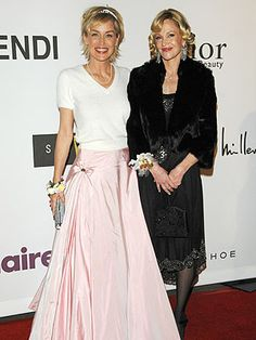 Sharon Stone, Fergie and Melanie Griffith Go to Prom – Style News - love that long, pink skirt