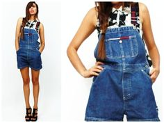 """True 90's overalls by Tommy Hilfiger featuring adjustable straps featuring """"Tommy Hilfiger"""" adjustable straps  Preetty rad ♡"""