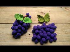 cacho de uvas amigurumi🍇. 1ª aula ( folhas e fruto) - YouTube Crochet Fruit, Congratulations, Crochet Patterns, Knitting, Crochet Triangle, Crochet Ball, Crochet Leaf Patterns, Crochet Flower Patterns, Cute Crochet