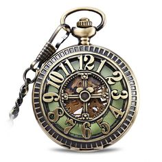 There's nothing like the ticking of a mechanical pocket watch to transport one through time. This Retro Steampunk Hollow Cross Pocket Watch with visible analog hand wound clock movement windows is a great way to mark the hours!
