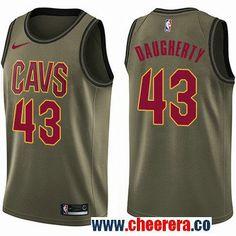 2cfad7e993 Men's Nike Cleveland Cavaliers #43 Brad Daugherty Green Salute to Service  NBA Swingman Jersey Jae