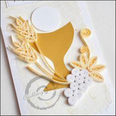 I Konunia Święta 001 - Quilling.com.pl - zakręcony sklep First Communion Banner, First Holy Communion, Quilling Craft, Quilling Designs, Quilled Paper Art, Origami Paper, Religious Symbols, Religious Art, New Crafts