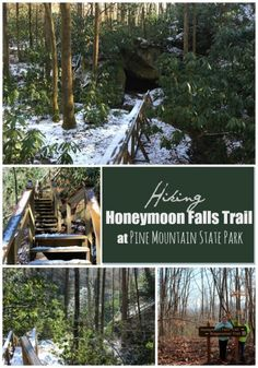 Pine Mountain State Park in Pineville, Kentucky -  not the largest in Kentucky, but the trail has definitely become one of our new favorites even in Winter!