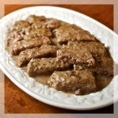Poor Man's Steak - is common fare in Pennsylvania Mennonite homes.  It's also a simple and inexpensive dinner to make and a delicious reminder of sacred family traditions, a treat for the whole family to enjoy!