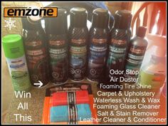 A Winter #Giveaway - #Win Emzone Car Care Product Prize Package - USA/CANADA