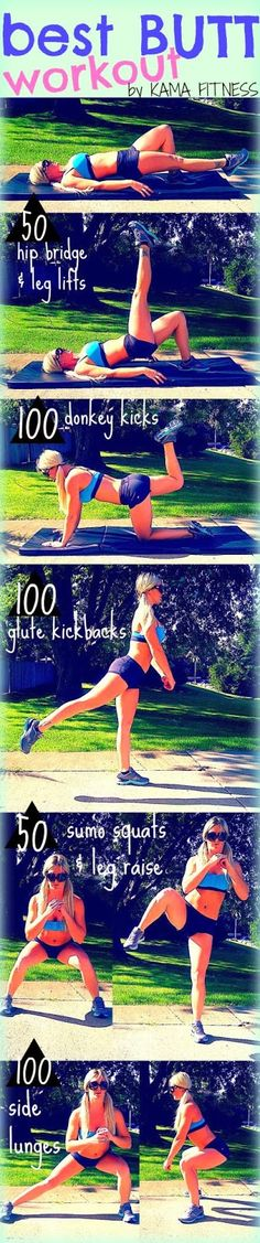 Butt Workouts you can do without the gym or weights.