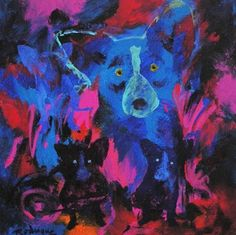 Musings of an Artist's Wife: Blue Dog: The Dark Period, 2006-7 (Paintings Following Katrina)