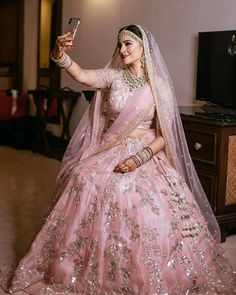 Looking for Bridal Lehenga for your wedding ? Dulhaniyaa curated the list of Best Bridal Wear Store with variety of Bridal Lehenga with their prices Pink Bridal Lehenga, Designer Bridal Lehenga, Indian Bridal Lehenga, Pakistani Bridal Dresses, Pink Lehenga, Floral Lehenga, Hijab Bride, Indian Dresses, Indian Bridal