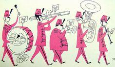 Marching band illustration by Aurelius Battaglia