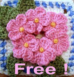 Crochet Flower - Tutorial •✿•  Teresa Restegui http://www.pinterest.com/teretegui/ •✿•