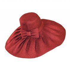 classic cartwheel hat in toyo straw.