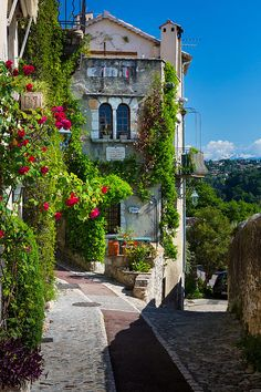 Street in Saint Paul de Vence in southern France.  ASPEN CREEK TRAVEL…