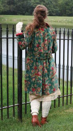 APRIL CORNELL WILD IRISH ROSE VELVET JACKET - Floral Velvet Coat