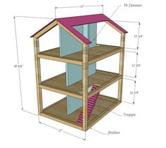 puppenhaus holz selber bauen 10 zimmer kinderzimmer pinterest diy dollhouse diy doll und. Black Bedroom Furniture Sets. Home Design Ideas