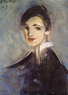 The Athenaeum - Singer in Black (Helene Schjerfbeck - )