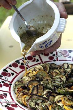 Grilled Vegetable with Za'atar Vinaigrette (recipe) | davidlebovitz.com