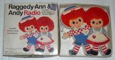 1973 Raggedy Ann & Andy Radio w/ Box FREE SHIPPING