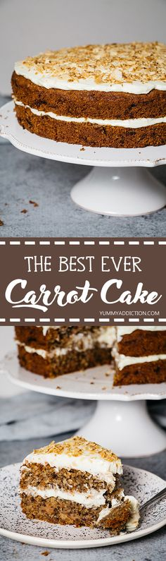 The best carrot cake recipe ever. Featuring a gorgeous mascarpone and cream cheese frosting, this cake will make any occasion extra special! Cake Recipes, Dessert Recipes, Yummy Recipes, Recipies, Ninja Recipes, Cinnamon Recipes, Cooking Recipes, Healthy Recipes, Coffee Drink Recipes