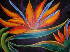 BIRD OR PARADISE by Paula Turk. Great blending of colors and contrast with this colorful piece. One of over 195 video lessons available to our members at www.gingercooklive.gallery