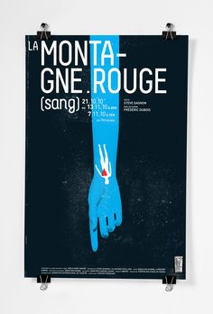Montagne rouge #poster #print