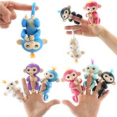 Finger Monkey Interactive Toy - Fun Cute Hanging Puppet - Baby Monkey Pet for Children. Christmas gift ideas for kids here you will find robots with a personality, quadcopter camera, finger monkey toys, cool night lights for kids, vtech kidizoom smartwatch, toy helicopter ball, ballerina musical jewelry boxes and much more!